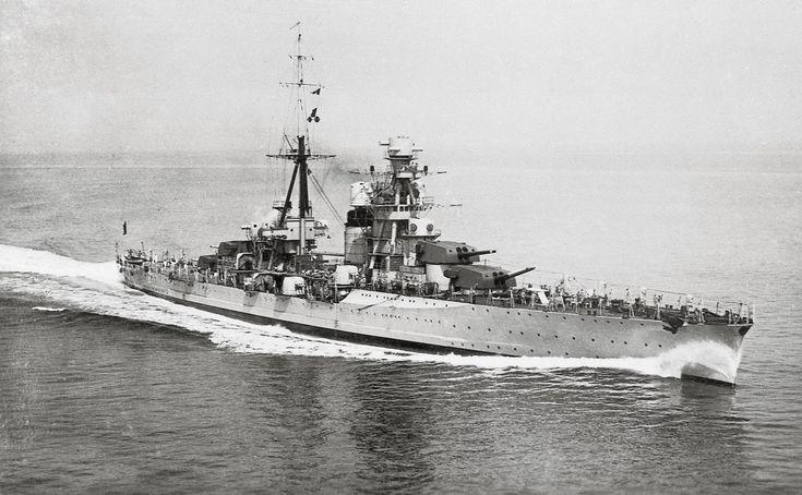 1931 regia Nave FIUME in navigazione