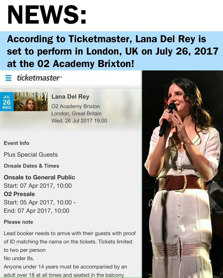 It's very possible that this is one leaked date from an upcoming tour! Tickets for Lana Del Rey's show go on sale this Friday (April 7th). #LDR