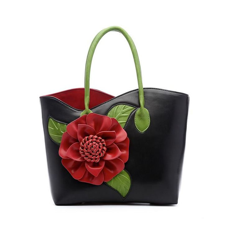 Handbag Tote with Flower Amalia 6 colors – Floral Cat