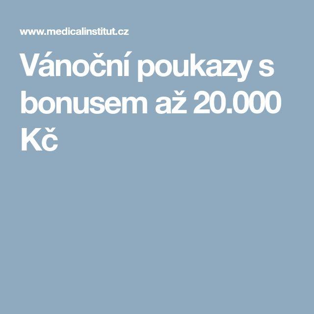 Vánoční poukazy s bonusem až 20.000 Kč