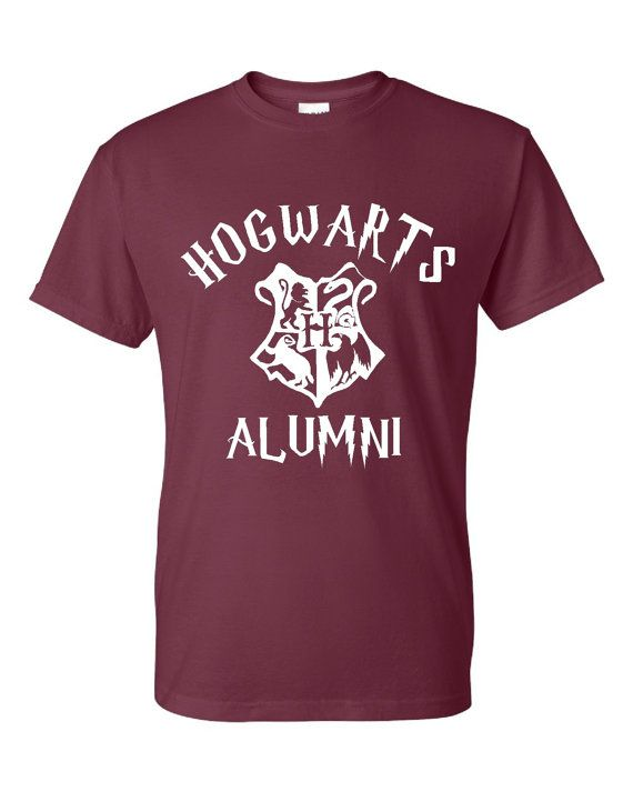 Hogwarts Alumni Wizard Lovers T Shirt Hogwarts by HarplynDesigns