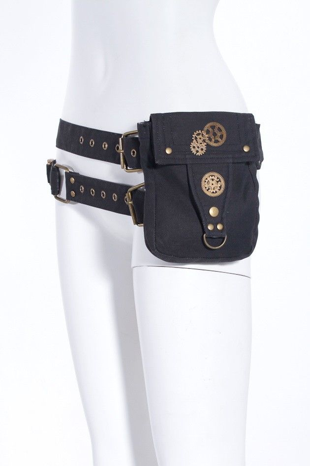 Black Steampunk Waist Pack | Steampunk Costumes | Steampunk Clothing