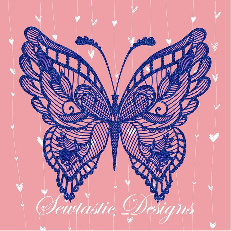 Butterfly Mandala Zentangle SVG