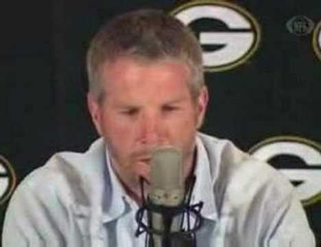 Brett Favre Retirement Speech.