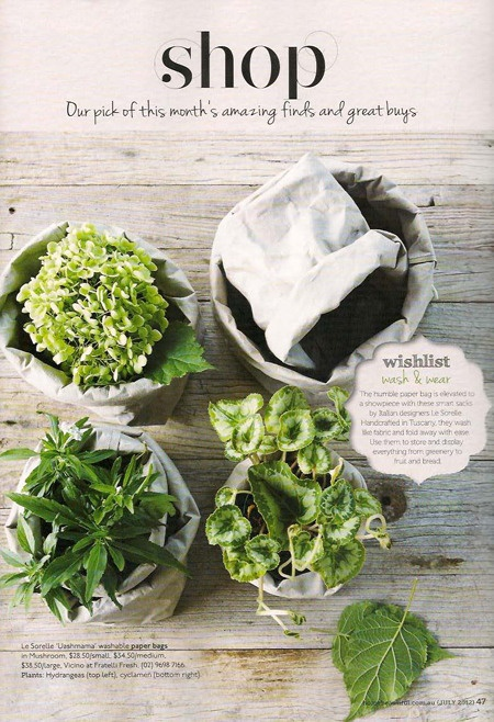 Image of Uashmama Paper Bag - Grey - As seen in this months Home Beautiful