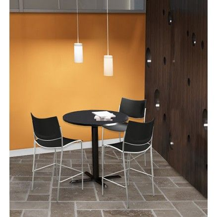 Mayline Bistro - Round table with laminate top.  FREE shipping in Canada at Ugoburo.ca