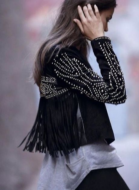 studded and fringed