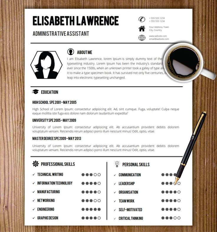 resume template with photo cover letter cv template word us letter a4professional creative simple resume resume format cv format - Resume Template In Word