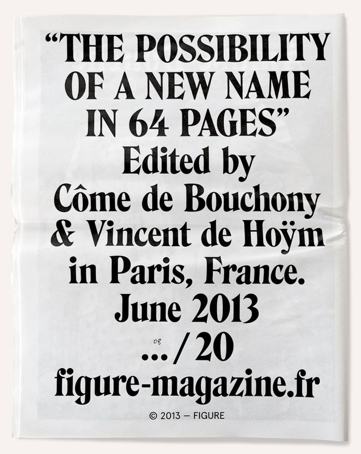 Côme De Bouchony (Paris)  Image of Figure — The Possibility of a New Name