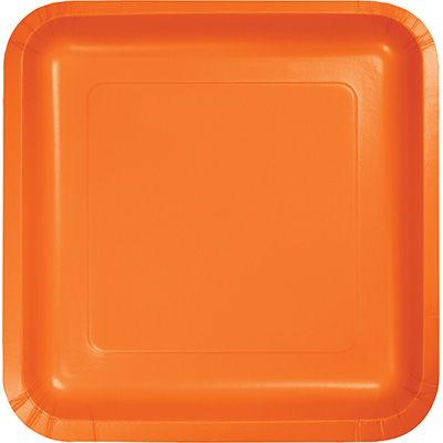 Touch of Color Sunkissed Orange Solid Color Square Paper Dinner Plates Wholesale\u2026 & 359 best Touch of Color Solid Color Party Supplies images on ...