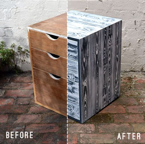 What a great Before and After to a damaged drawer made by Finn Stewart | Design Sponge |
