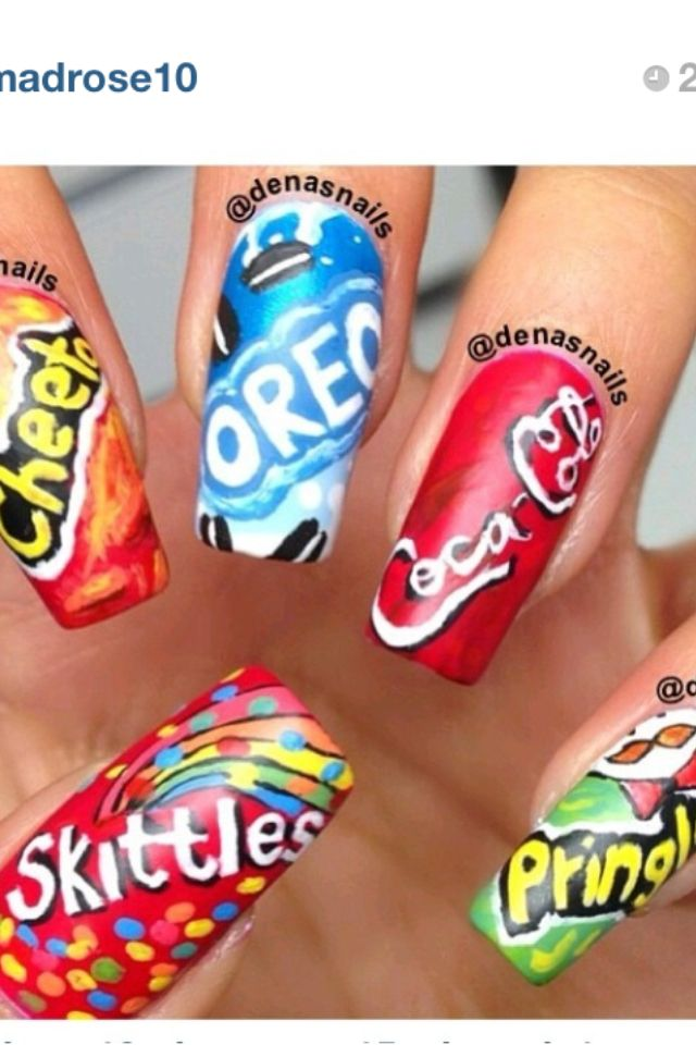 17+ Best Images About Food Nails On Pinterest