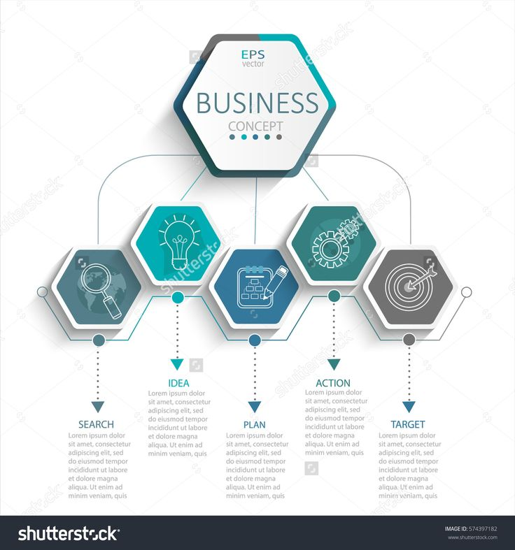 Lovely Vector illustration infographic template with D hexagons paper label business template for presentation Creative