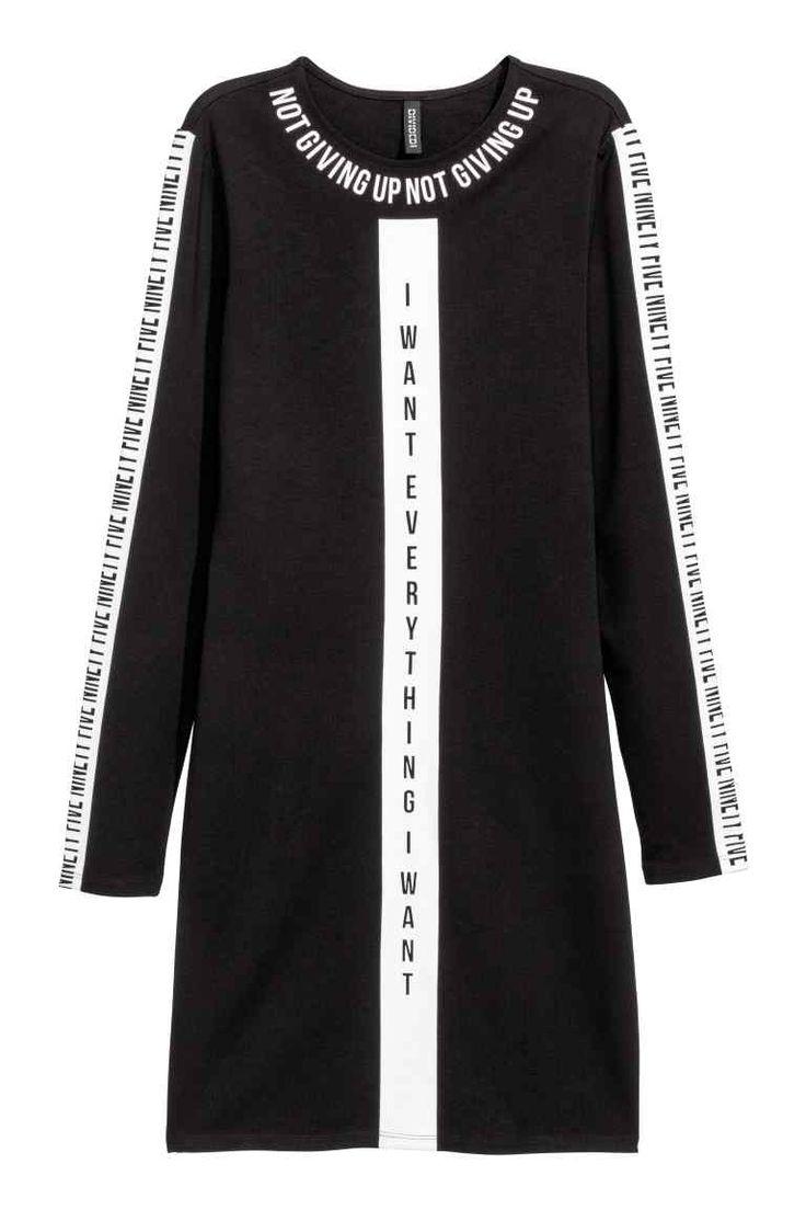 Abito in jersey con stampa - Nero - DONNA | H&M IT 1