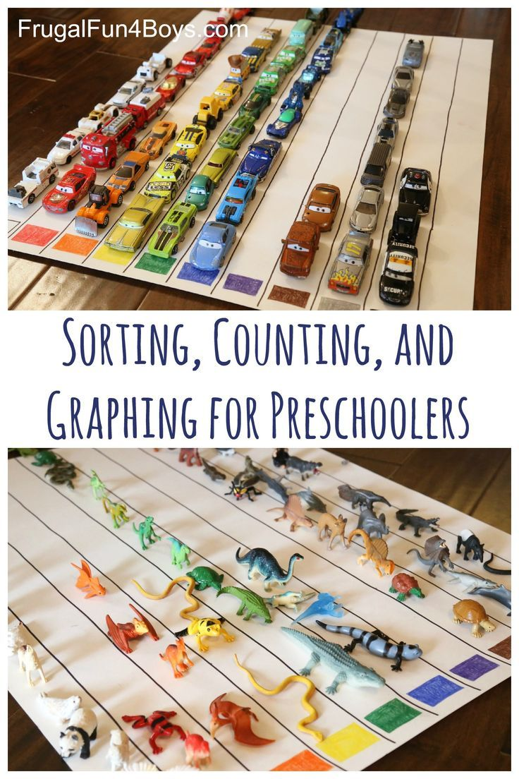 Make a giant color graph!  Great way to learn through play for preschoolers.  Sorting, counting, and graphing.