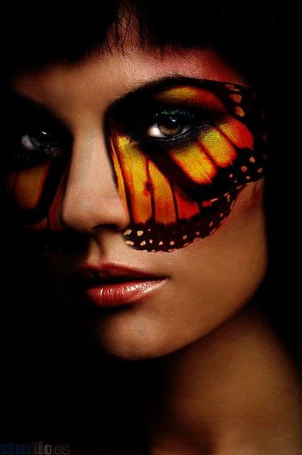 MonarchFace Makeup, Eye Makeup, Halloween Costumes, Beautiful, Art, Butterflies Wings, Butterflies Eye, Monarch Butterflies, Face Painting