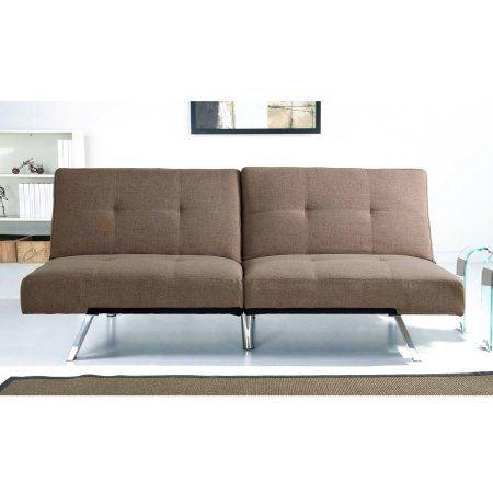 Devon  Claire Austin Fabric Futon Sofa Bed Coffee