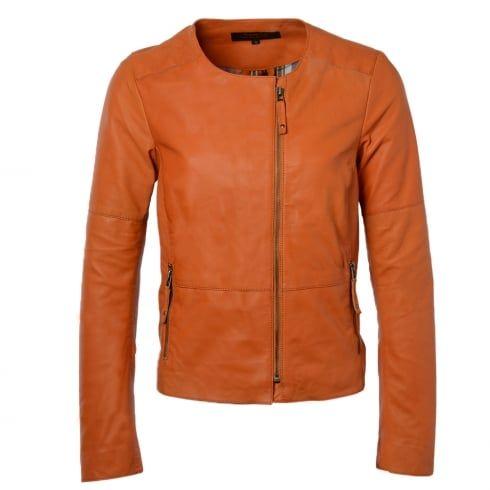 Ladies BRAMPTON Chloe Orange Leather Jacket