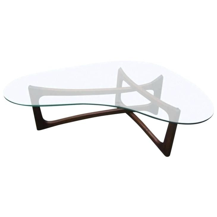 Kidney Shaped Glass Top Coffee Table Kidney Shaped Glass Top