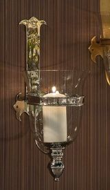 GU758 - Nickel Medieval Brass Wall Sconce - Candle Holder