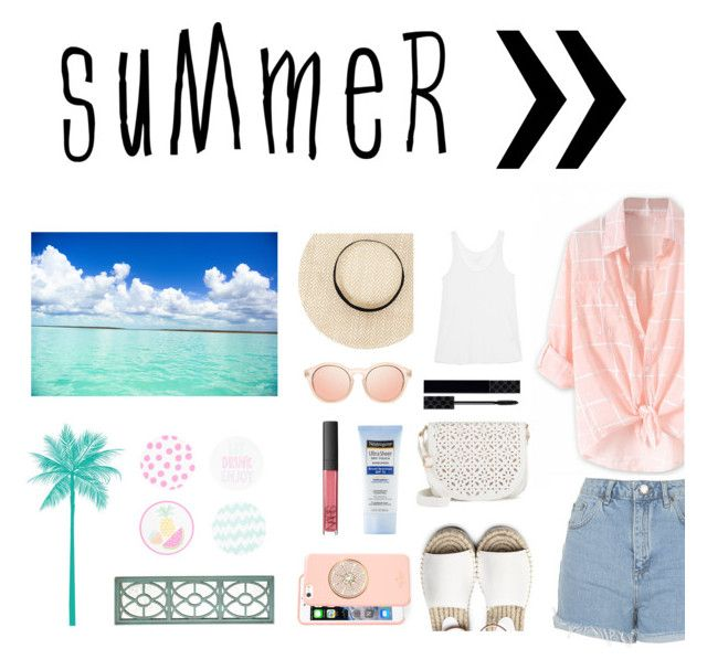 """""""summer style"""" by littlelook on Polyvore featuring Topshop, Juvia, Under One Sky, Gucci, NARS Cosmetics, Neutrogena, Kate Spade, New Look and Pier 1 Imports"""