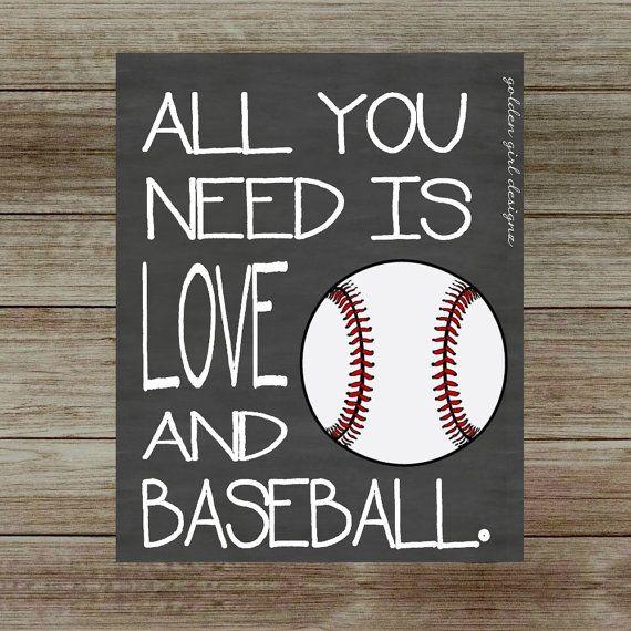 INSTANT UPLOAD-Baseball Wall Art Baseball by GoldenGirlDesignz