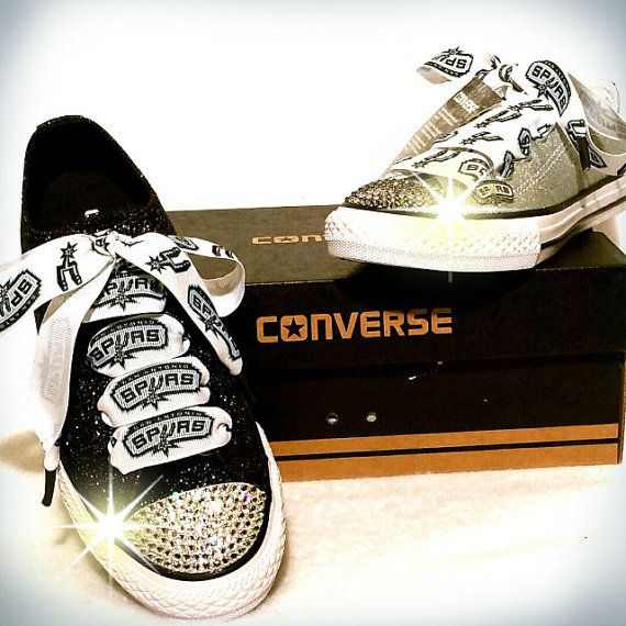 Hey, I found this really awesome Etsy listing at https://www.etsy.com/listing/262319501/converse-san-antonio-spurs-shoes