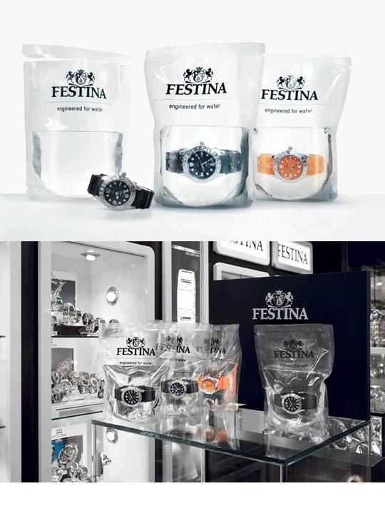festina in water. love the marketing