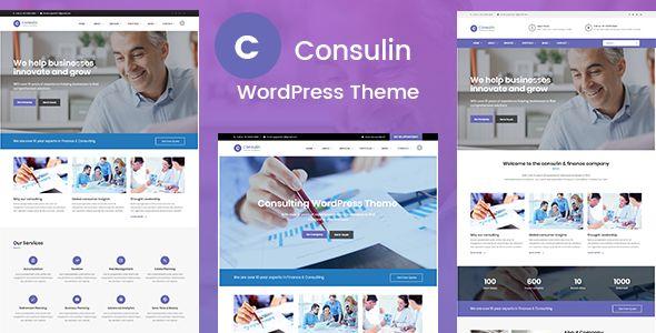 Consulin - Consultant Finance WordPress Theme