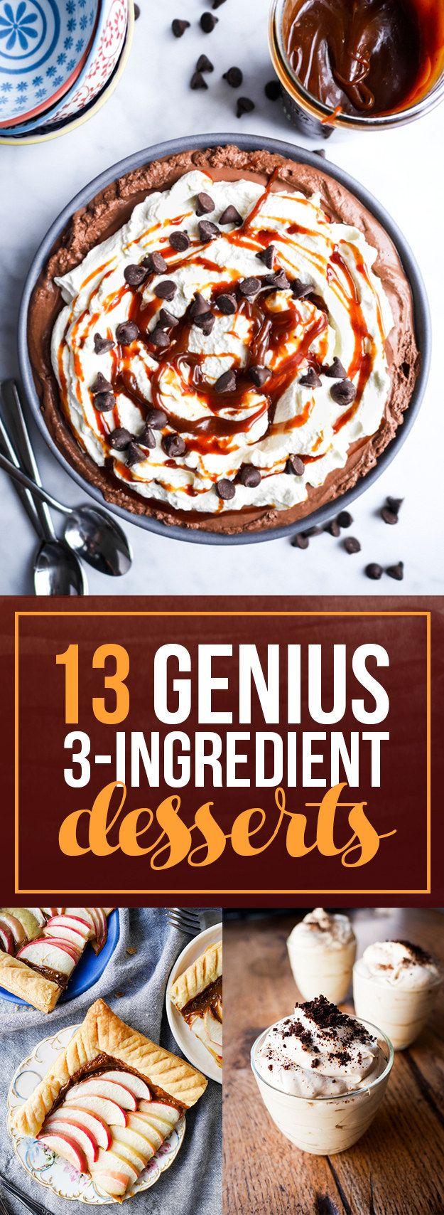 Desserts i could make | 13 Genius Three-Ingredient Desserts To Make For Thanksgiving