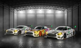 Electricity is for suckers: Mercedes goes racing with IMSA in 2017     - Roadshow  Roadshow  News  Car Industry  Electricity is for suckers: Mercedes goes racing with IMSA in 2017  Enlarge Image  Lets hope some wackier liveries show up. The one in the middle is pretty slick though.                                             Mercedes-Benz                                          The Mercedes-AMG GT3 is one beautiful race car and next year well be able to watch it tear around tracks in the US…