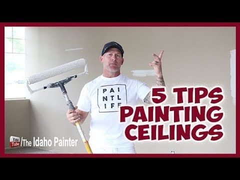 (1) HOW TO paint ceilings FAST and like a professional PAINTER - YouTube