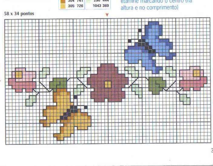 Schema punto croce Farfallina 2