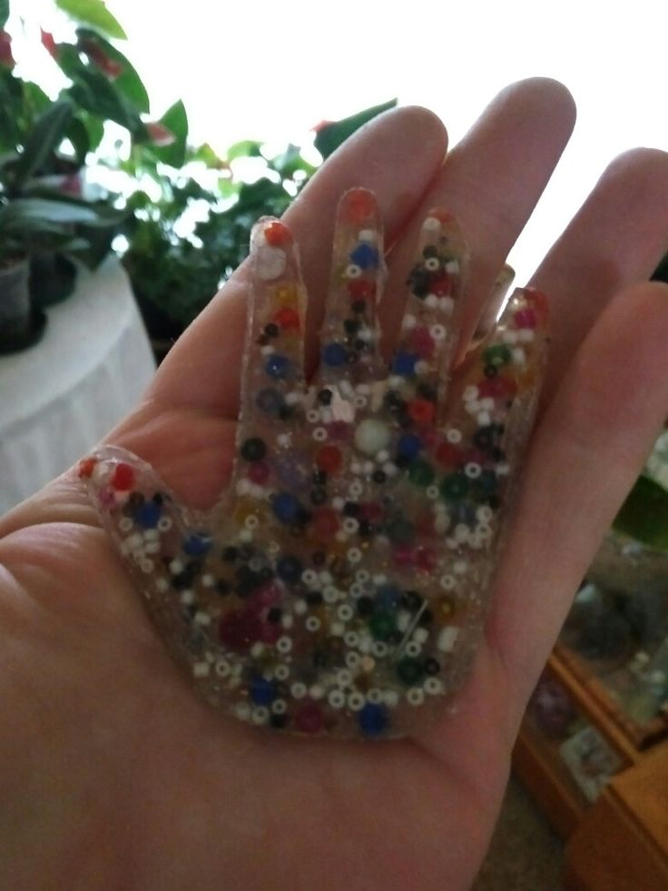liquid glass and beads