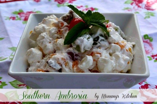 how to make ambrosia salad with cream cheese