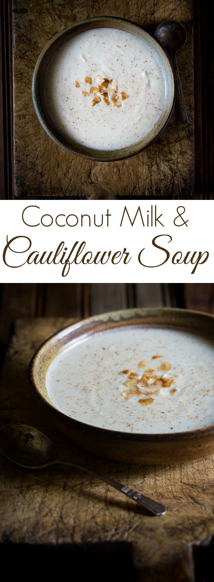 A fabulously delicious Cauliflower and Coconut Milk Soup with just a hint of nutmeg! | vegan | vegetarian | gluten free | dairy free | whole30 | paleo | primal | Visit noshtastic.com for more great recipes!