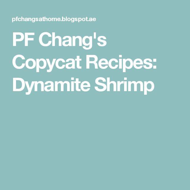 PF Chang's Copycat Recipes: Dynamite Shrimp