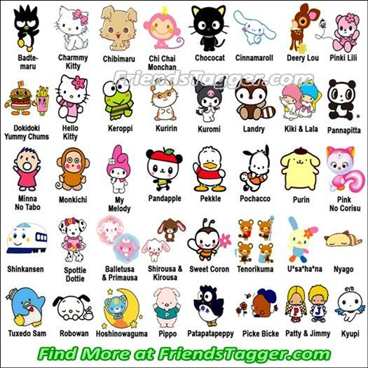 Hello Kitty Characters Names And Pictures