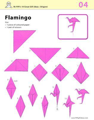 Pink Flamingo Origami Instructions Printable