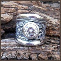 Chunky silver filigree ring - Fia Fourie Juwele