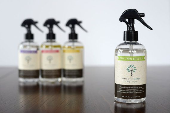 Lavender Mint Natural Yoga Mat Cleaner by MindOverLather on Etsy