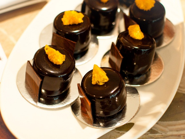 Burch and Purchese - luxurious and imaginative desserts available chapel street melbourne  Mandarin and Salted Caramel Chocolate Cake