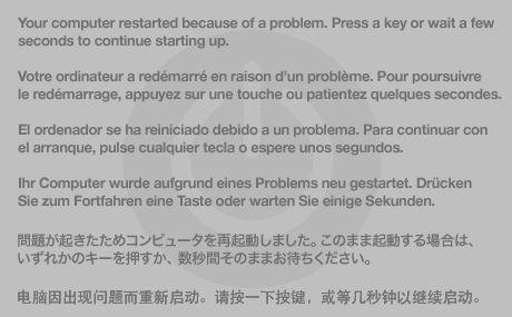 """OS X: il computer si riavvia da solo o viene visualizzato il messaggio: """"Il computer è stato riavviato a causa di un problema"""". - Supporto Apple"""