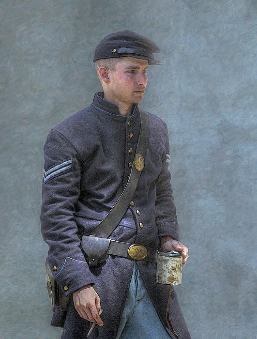 Coffee And A Cigar Union Corporal Civil War Print By Randy Steele