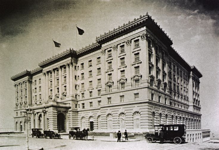 The @The Fairmont San Francisco Fairmont San Francisco in 1907. Opening exactly one year to the day after the Great Earthquake that destroyed the interior of the hotel and much of the City.