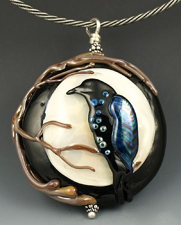 Raven Moon by Elise Strauss of Koi Creek Beadworks!!