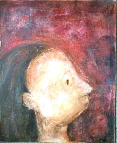 Longing - watching our children grow with pride and anxiety  Acrylic on board