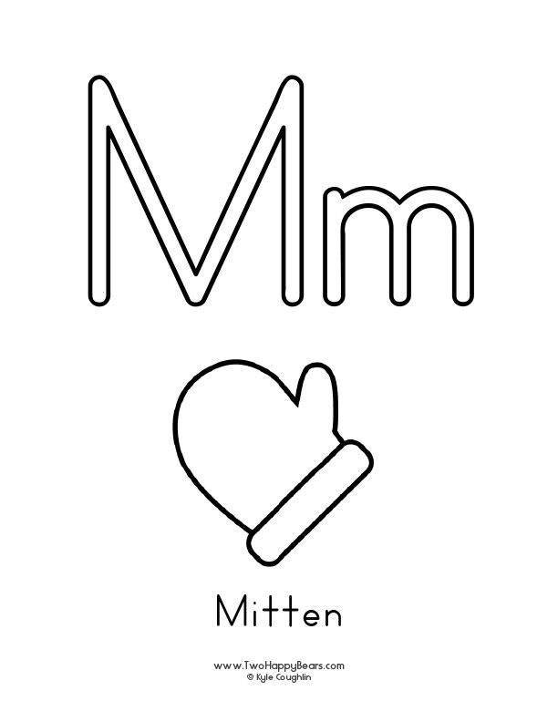 Free Printable Coloring Page For The Letter M With Upper And