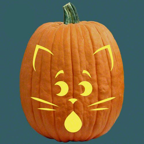 83 Best Cats Witches Pumpkin Carving Patterns Images On