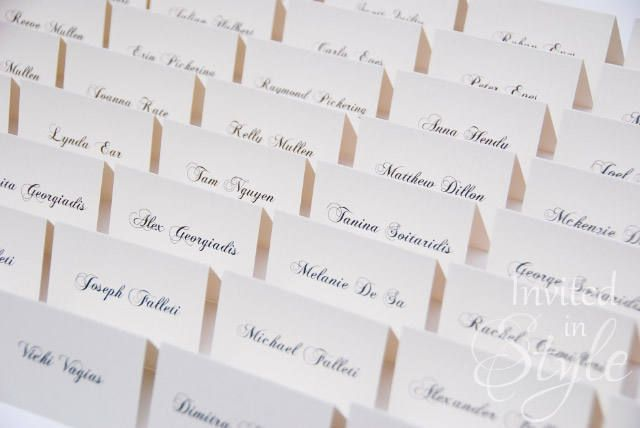 Place cards/Escort cards/Place holders - Wedding, Engagement, Birthday, Bridal Shower - printed cards by InvitedinStyle on Etsy